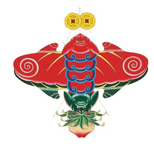 金钱蝙蝠福寿风筝纸鸢民俗节日图片