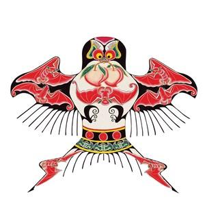 红色仙桃蝙蝠燕子风筝纸鸢民俗节日图片