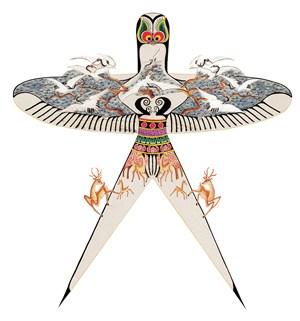 梅花鹿白鹤蝙蝠风筝纸鸢民俗节日图片