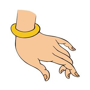 佛手PNG矢量带着金环的佛手图片.zip