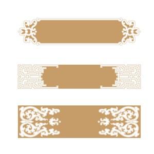中式古典边框花纹素材