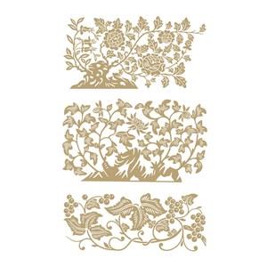 3种中国风花草植物纹样矢量素材