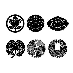 日式和风矢量花卉素材吉祥花纹