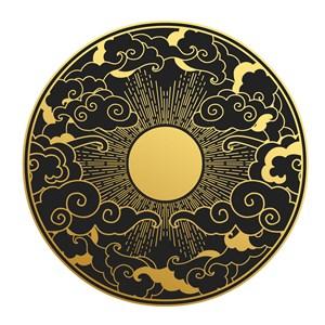 中国风太阳吉祥云矢量素材