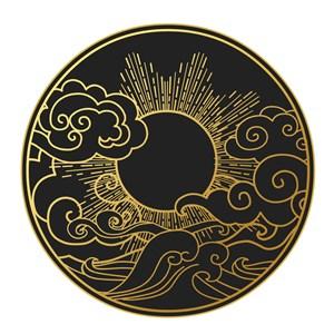 矢量中国风太阳吉祥云素材