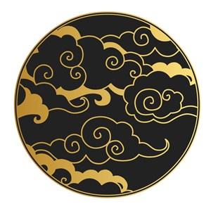 矢量中国风黑金云纹吉祥云矢量素材