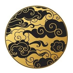 中国风黑金云纹吉祥云矢量素材