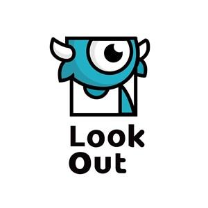 独眼怪兽标志图标服饰时尚矢量logo素材