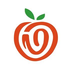 抽象苹果标志图标餐饮食品矢量logo素材