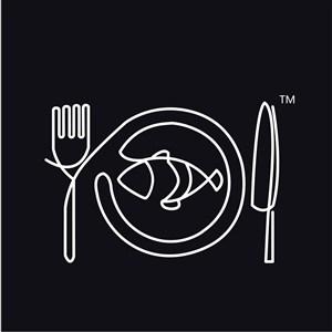刀叉餐盘鱼标志图标餐饮食品矢量logo