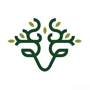 鹿标志图标酒店旅游矢量logo设计素材