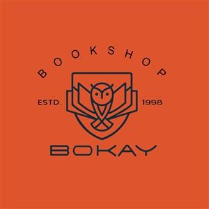 猫头鹰标志图标书店矢量logo设计素材