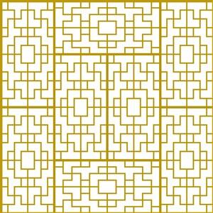 黄色花纹底纹几何纹样矢量素材