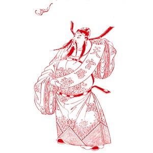 天官赐福传统中国元素人物矢量素材