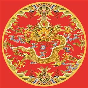 龙纹古代龙凤刺绣中国风图片