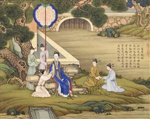 葛覃亲采古代贤德皇后绘画图片