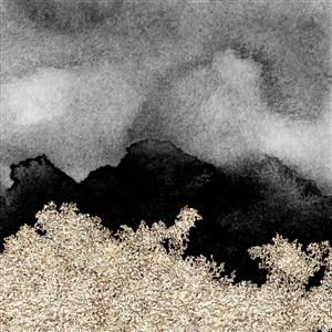 灰色黑色银白色金箔水彩晕染金箔纹理背景图片