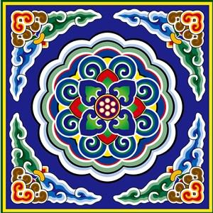 花纹底纹中国风装饰雕梁画栋矢量图案素材
