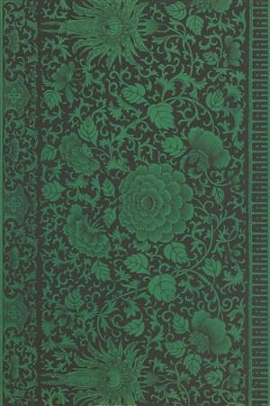 纯色深墨绿色中式传统纹样集锦中国风图片