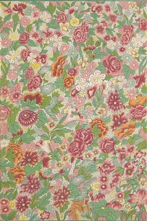 五彩斑斓鲜花植物中式传统纹样集锦中国风图片