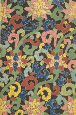 五彩花纹中式传统纹样集锦中国风图片