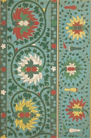 红黄白鲜花葫芦植物树叶中式传统纹样集锦中国风图片