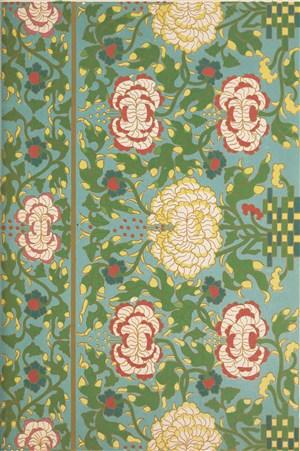黄色花瓣菊花中式传统纹样集锦中国风图片