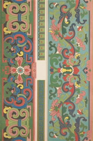 竖形两幅中式传统纹样集锦中国风图片