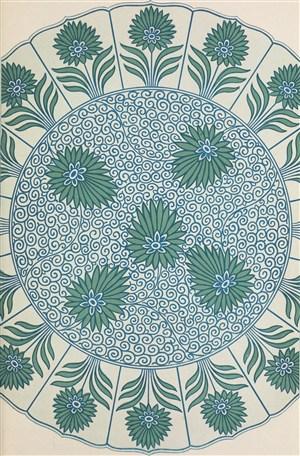 圆形植物中式传统纹样集锦中国风图片