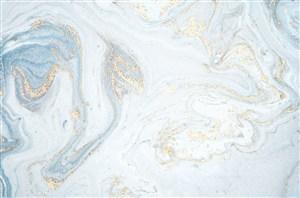 粉浅蓝金系大理石背景图片