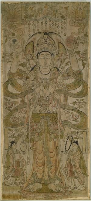 大佛神像敦煌佛像壁画绘画图片