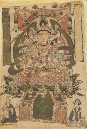 柳条宝瓶佛会菩萨敦煌佛像壁画绘画图片