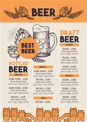 国外啤酒菜单设计模板
