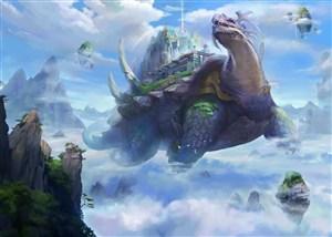 中国神话神兽玄武风CG原画图片