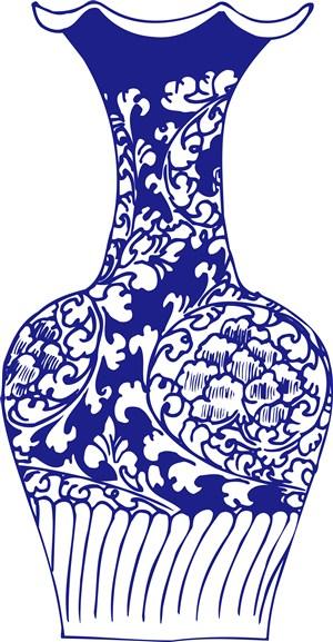 国粹青花瓷贴画中国风图片