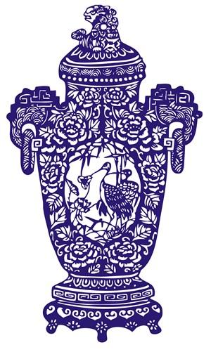 贵族国粹青花瓷中国风图片