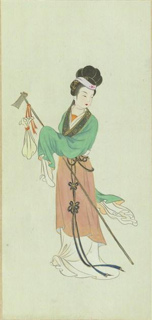 金陵十二钗林黛玉葬花绘画图片