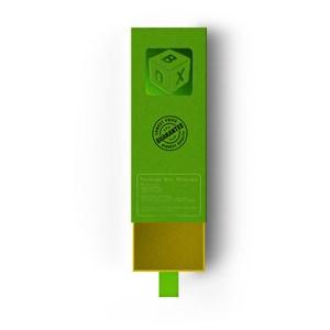 拉开的绿色盒子纸盒包装盒贴图样机