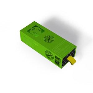 绿色纸盒包装盒顶面侧面贴图样机