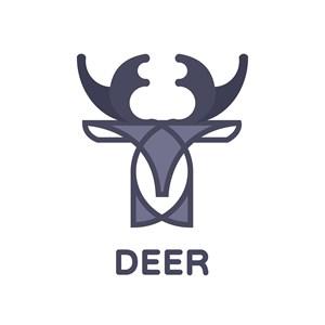 鹿标志图标酒店旅游logo素材