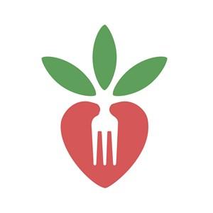 叉子萝卜标志图标餐饮食品矢量logo设计素材