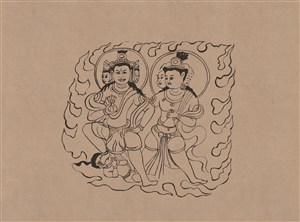 敦煌莫高窟藏经洞宋菩萨伎乐绘画图片