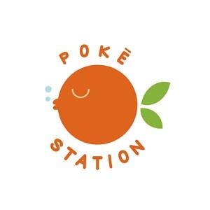 叶鱼橘子标志图标餐饮食品logo设计素材
