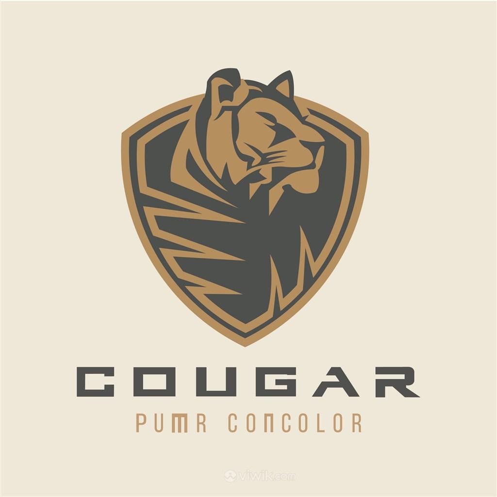 狮子盾牌标志图标电子机械矢量logo素材