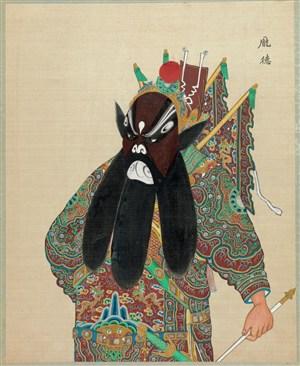 京剧人物庞德脸谱图片大全