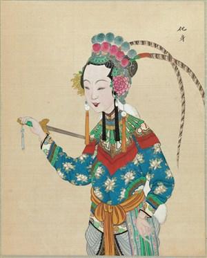 京剧人物拿尖刀的匕首化身脸谱图片大全