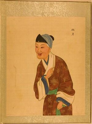清代宫廷画师京剧人物化身脸谱绘画图片