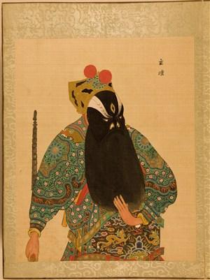 清代宫廷画师京剧人物立壇脸谱绘画图片