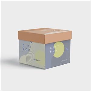 方形盒子包装盒贴图样机
