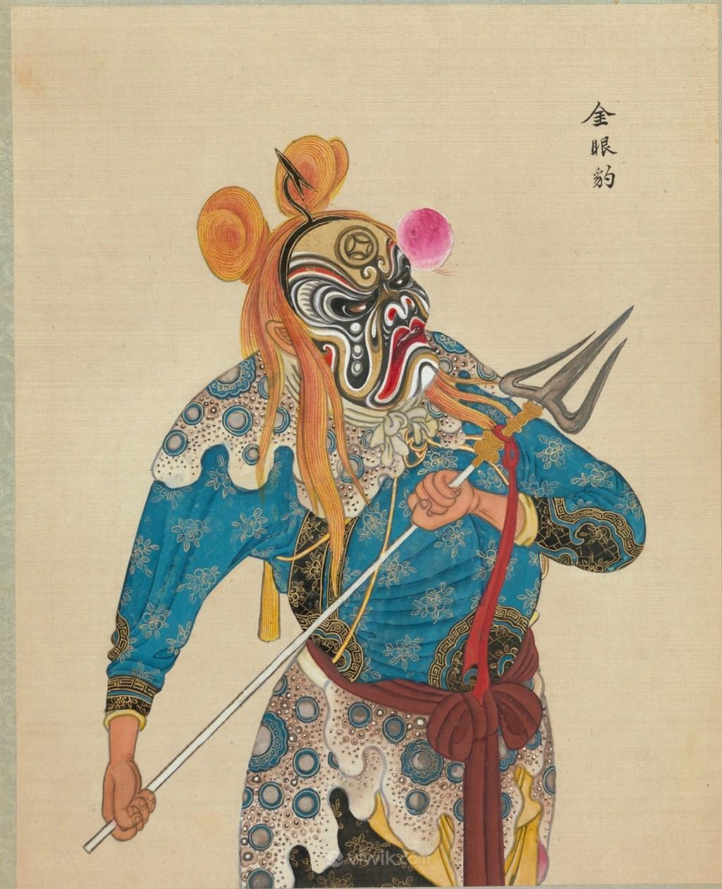 京剧人物金眼豹脸谱图片大全